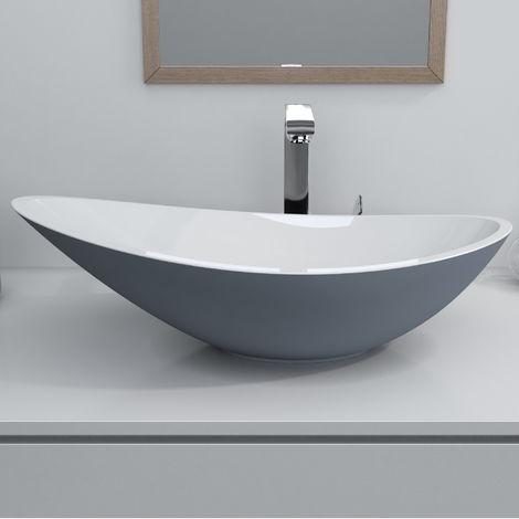 Horizon Venus 564mm Polymarble Countertop Wash Basin in Grey