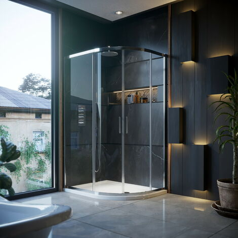 Horizon6 1200 X 900mm Offset Quadrant Shower Enclosure With Tray RH