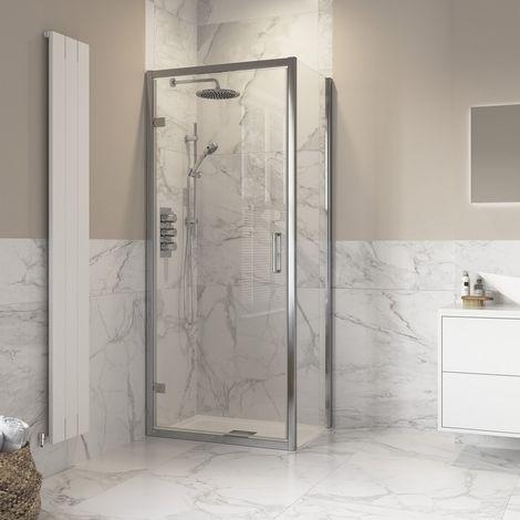 Horizon8 760 x 760mm Hinged Door Shower Enclosure 8mm Glass
