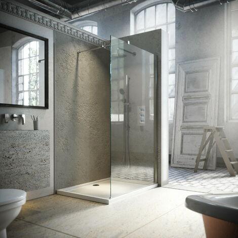 Horizon8 Chrome 1000mm Wetroom Shower Screen 8mm Glass