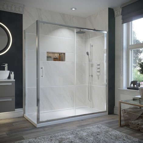 HorizonEco 1100 X 900mm Sliding Door Shower Enclosure 6mm