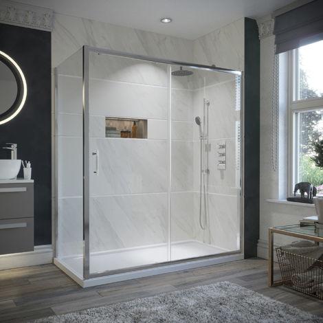 HorizonEco 1200 X 760mm Sliding Door Shower Enclosure 6mm