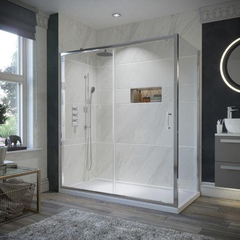 HorizonEco 1600 X 700mm Sliding Door Shower Enclosure 6mm