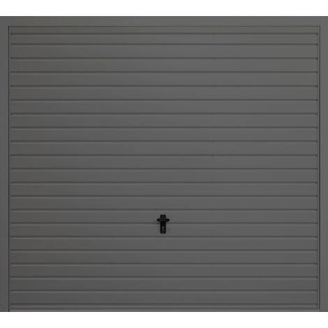 """Horizontal 7' x 6' 6 """" Frameless Steel Garage Door Anthracite Grey"""