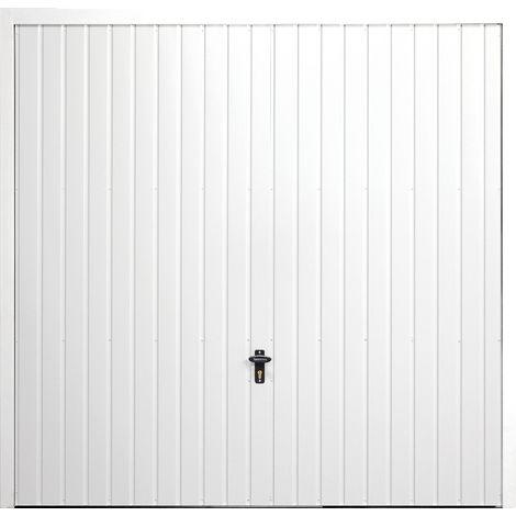 "Horizontal 7' x 6' 6 "" Frameless Steel Garage Door White"