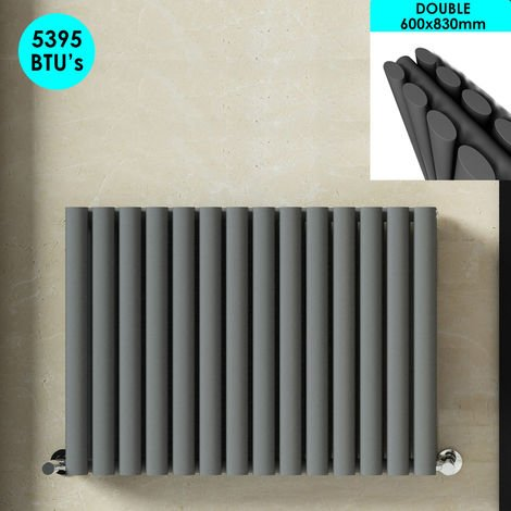 Horizontal Column Designer Radiator Anthracite