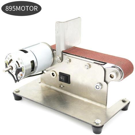 Horizontale Ponceuse Mini Electrique Bande Abrasive Sander Multifonctions Grinder Bricolage Polissage Machine De Meulage, 895 Motor