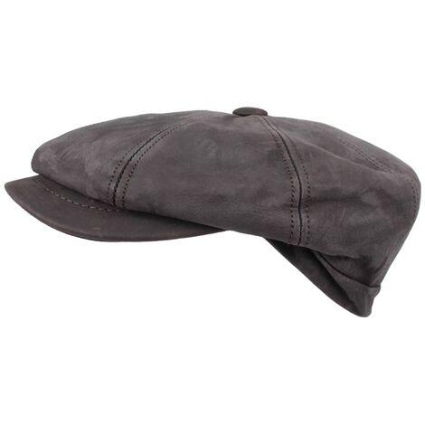 Horka Gorra de cuero napa marrón talla 58 255010-0005