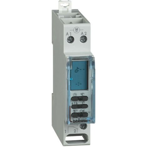 Horloge de programmation avec électronique digitale 1 module DIN (F67SR11)