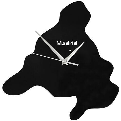 Horloge décorative Sans Tic-Tac horloge murale acrylique avec Mouvement à quartz - Noir SoBuy® EUH95-ES