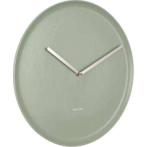Horloge en porcelaine Plate 35 cm Ocre jaune - Ocre jaune