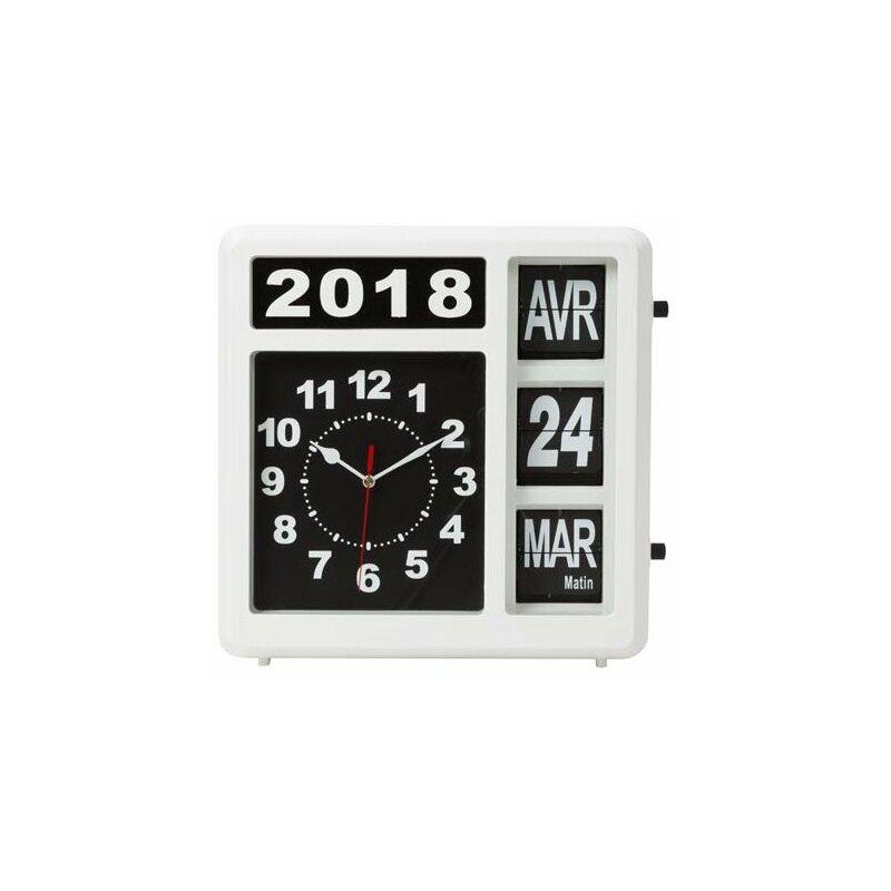 Horloge Murale A Chiffres Sautants Avec Calendrier 31 X 31 Cm Francais Vellwc107