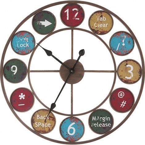 Horloge murale antique en métal pour le salon