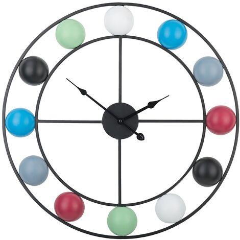 Multicolore Horloge Murale Mini Flip