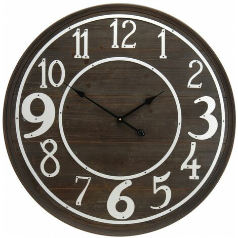 Horloge Murale D 80 Cm Bois Fonce Livraison Gratuite 20174