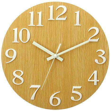 Horloge Murale Lumineuse Quartz Num & É Ro Lueur Suspendue Dans La Chambre Silencieuse Sombre