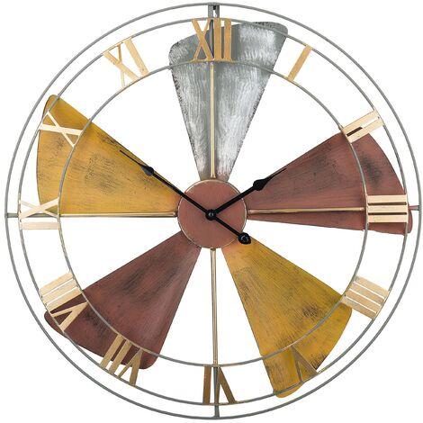 Horloge murale originale en trois couleurs
