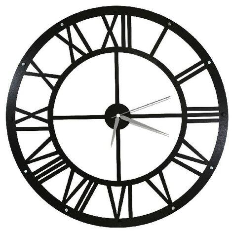 Horloge Murale - pour Sejour, Cuisine, Bureau - Multicolore en Metal, 50 x 0,16 x 50 cm