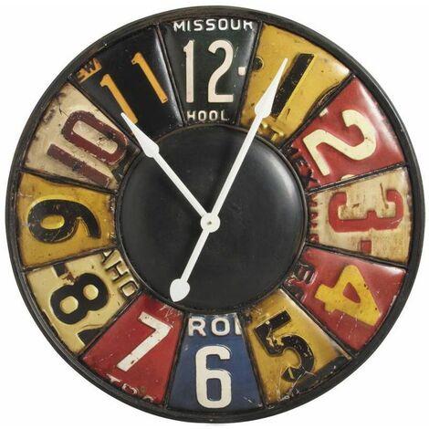 Horloge murale rétro en métal