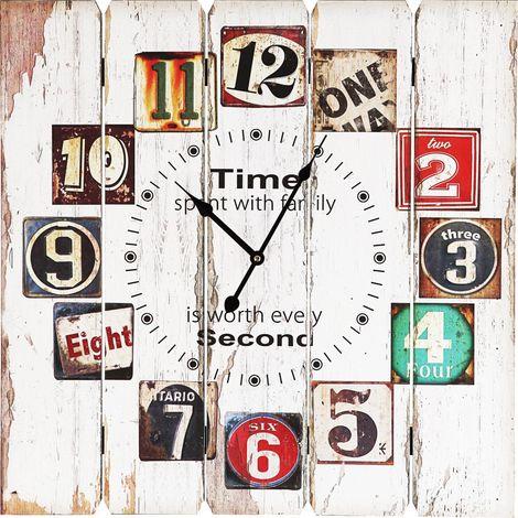 Horloge murale rétro en regard de Holz pour votre salle de séjour