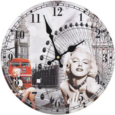 Horloge murale vintage Marilyn Monroe 30 cm
