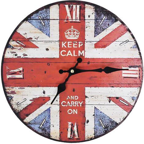 Horloge murale vintage Royaume-Uni 30 cm