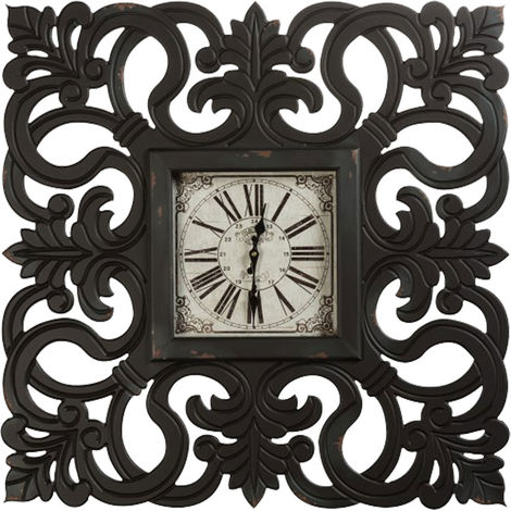 Horloge murale Vintage, y compris les matériaux de montage