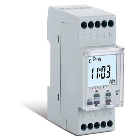 Horloge numérique hebdomadaire avec heure d'été 2 canaux - 2 DIN - Perry