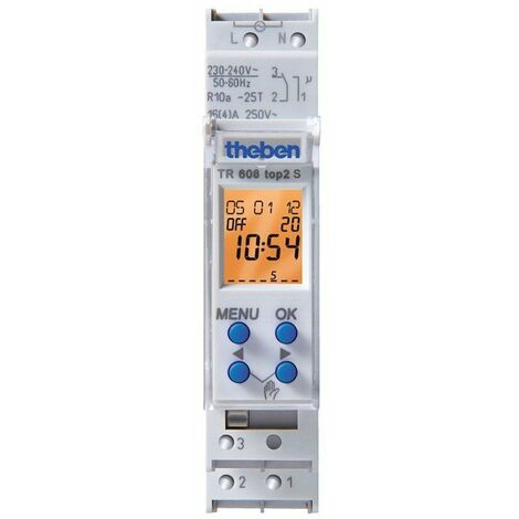 Horloge programmable digital TR Theben 1 module LED 60 W