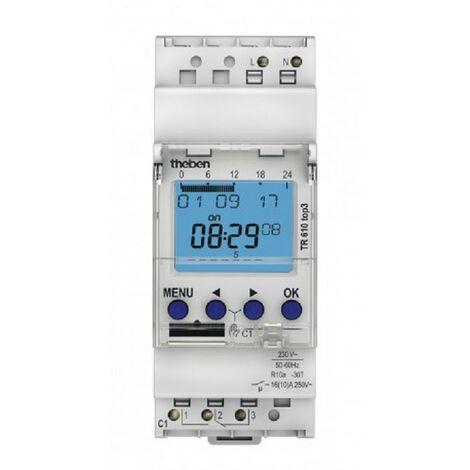 Horloge programmable digitale avec programme hebdomadaire - theben tr 610 top3 - 6100130