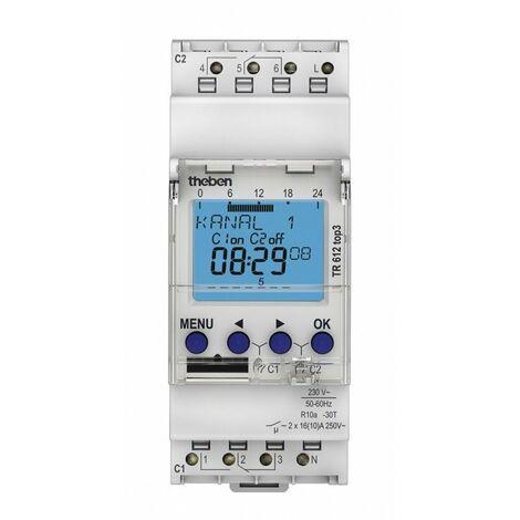 Horloge programmable digitale TR 612 top3 - 2 canaux - Blanc