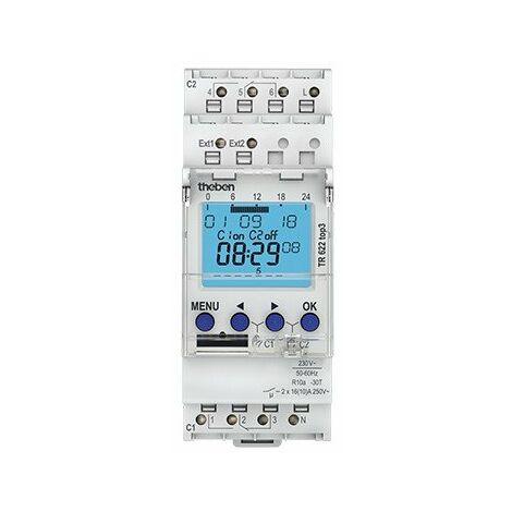 Horloge programmable digitale TR 622 top3 - 2 canaux - Blanc