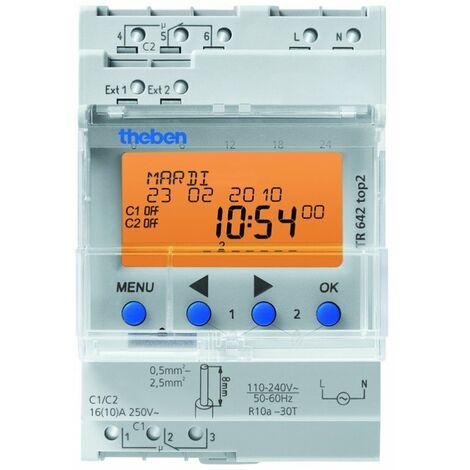 Horloge programmable digitale TR 642 top2 - 2 canaux - Blanc