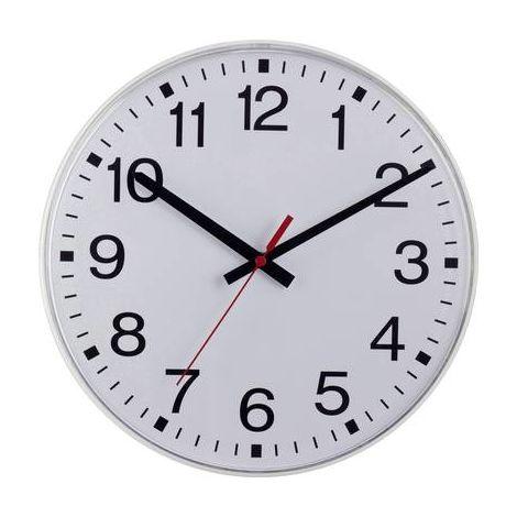 Horloge radiopilotée EUROTIME 55403-00 40 cm x 40 mm x 5 cm blanc radiopiloté(e) 1 pc(s)