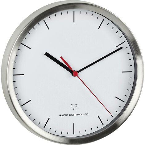 Horloge sans fil avec cadre en aluminium X641721
