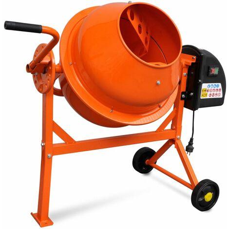 Hormigonera electrica 63 L 220 W acero naranja
