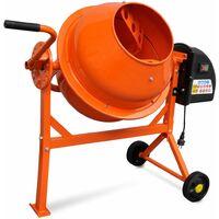 Hormigonera eléctrica 63 L 220 W acero naranja