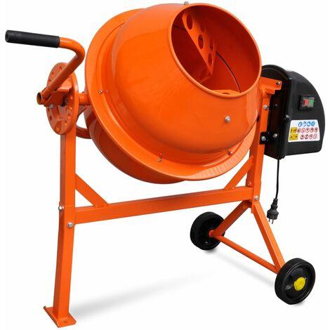 Hormigonera eléctrica de acero naranja 63 L 220 W