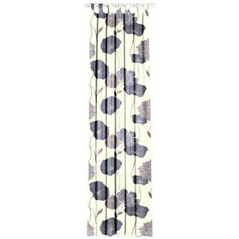 Horn Textiles 6-70 Camino Rideau à pattes Imprimé Noir 245 x 135 cm