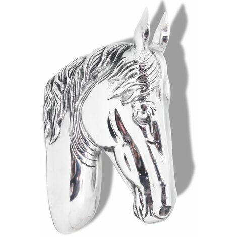 Horse Head Decoration Wall-Mounted Aluminium Silver