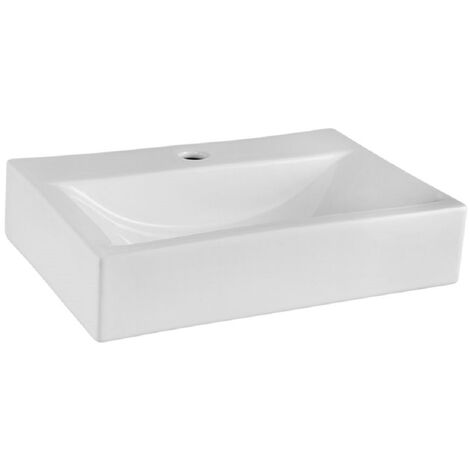 Horta 450mm x 320mm Rectangular Countertop Basin with 1 Tap Hole