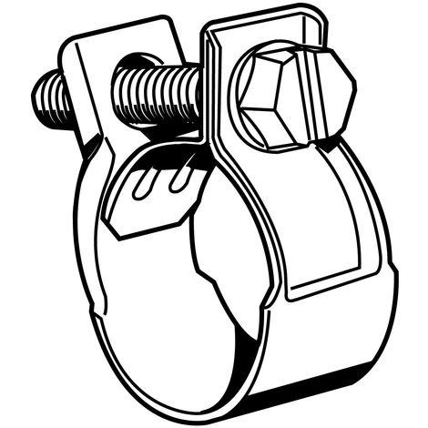Hose clamp Mini Steel Zinc plated