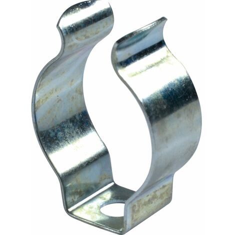 Hose Clip, Spring Steel - BZP (Bright Zinc Plating) - Terry Type Spring Clips Open