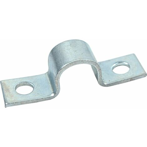 Hose Clip, Steel - BZP (Bright Zinc Plate) Full Saddle Clamp Light Duty - DIN 72573