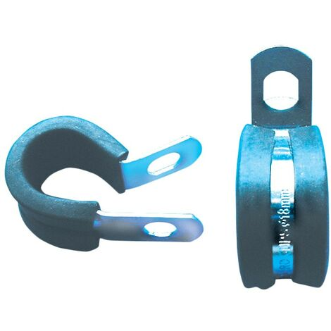 Hose Clips. A4 Stainless- Rubber Lined P-Clip