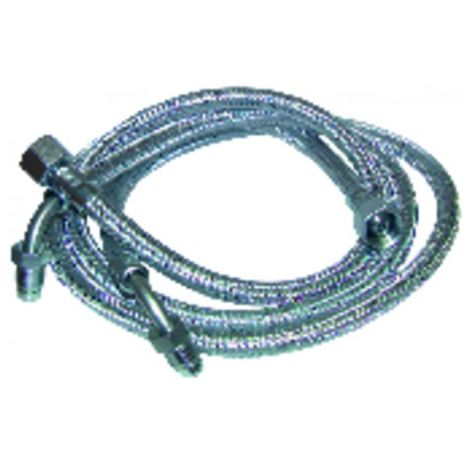 """Hose fuel f3/8"""" x m1/4 ring bent 90° 1000 (X 2) - DIFF for Elco : 13004801"""