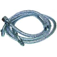 """Hose fuel - F3/8"""" x M1/4 with ring bent 90° length 900mm (X 2) - FRANCO BELGE : 183005"""