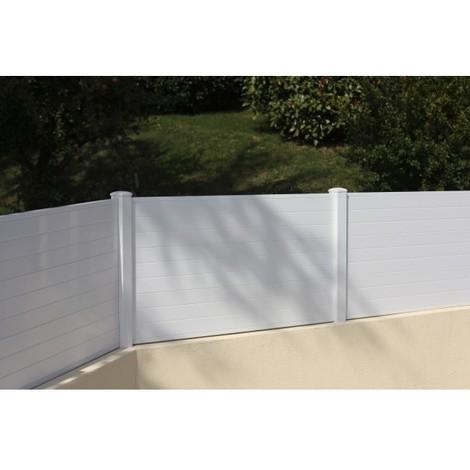 Hossegor - Clôture PVC - hauteur 0,80m - vendu au KIT (Lg 1.58m)