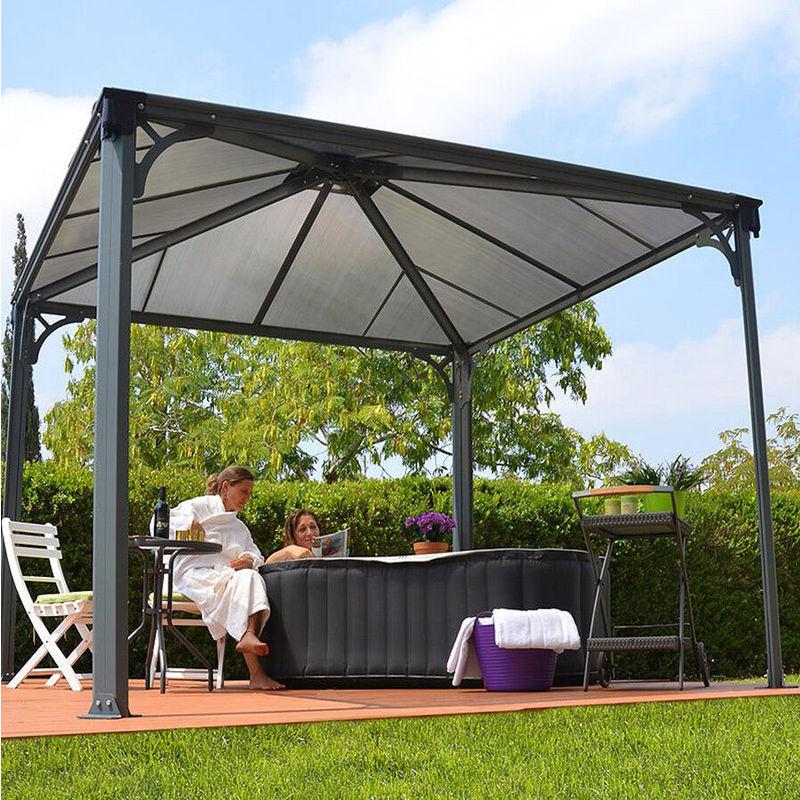 Hot Tub Gazebo Spa Awning Garden Canopy Outdoor Sun Shade