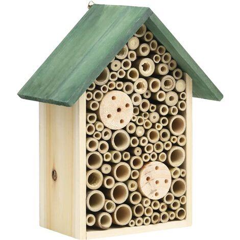 Hôtel à insectes 2 pcs 23x14x29 cm Bois de sapin massif